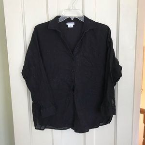 💐5/$25 Cooperative Black Sheer Button Down